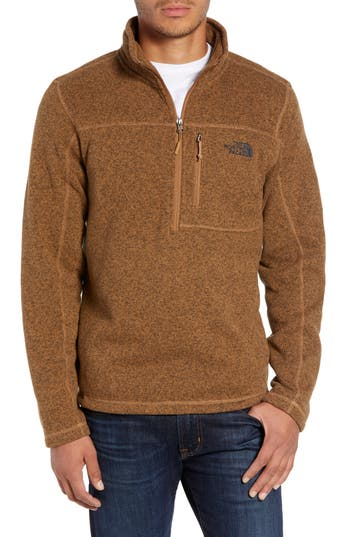 The North Face Gordon Lyons Quarter-Zip Fleece Jacket, Brown
