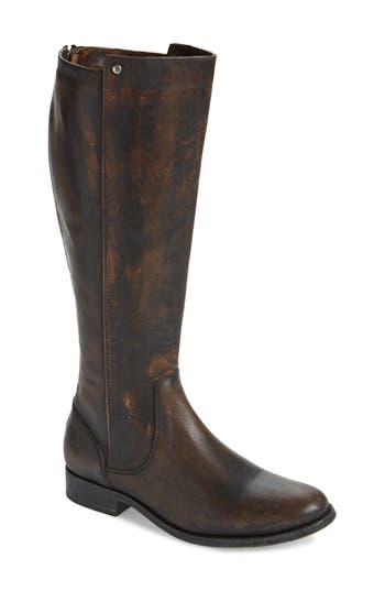 Frye Melissa Stud Knee High Boot, Black