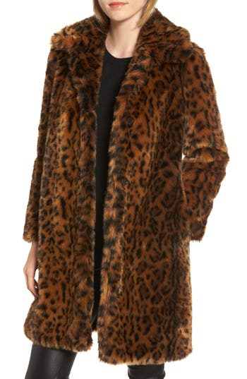 Plus Size J.crew Leopard Print Faux Fur Coat, Brown