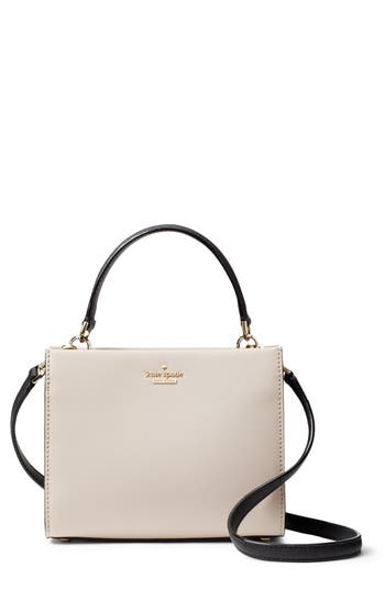 Small Cameron Street - Sara Leather Satchel - Beige, Tusk/ Black