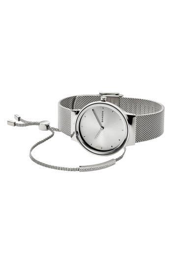 Freja Watch & Merete Bracelet Set, 34Mm, Silver