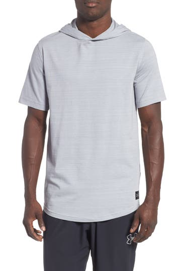 Under Armour Sportstyle Short Sleeve Hoodie, Grey