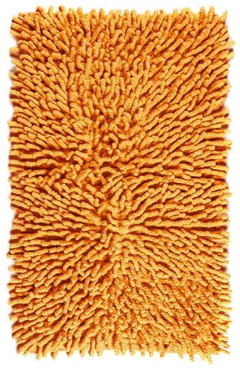Kassatex 'Bambini Basics' Shag Chenille Cotton Bath Rug, Size One Size - Orange