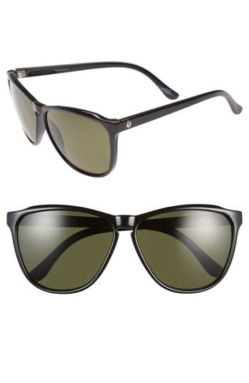 Women's Electric 'Encelia' 62Mm Polarized Sunglasses - Gloss Black/ Grey Polar