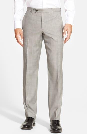 Men's Ted Baker London Jefferson Flat Front Wool Trousers