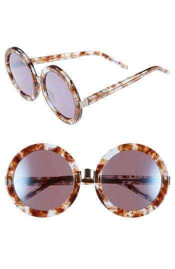 Women's Wildfox 'Malibu Deluxe' 55Mm Retro Sunglasses - Coconut/ Denim Mirror