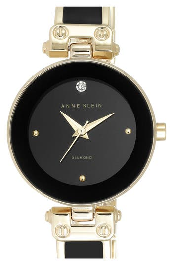 Women's Anne Klein Diamond Marker Bangle Watch, 28Mm