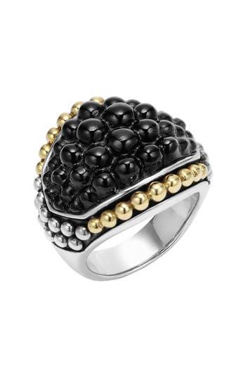 Women's Lagos 'Black Caviar' Dome Ring