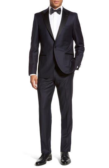Men's Strong Suit 'Aston' Trim Fit Solid Wool Tuxedo