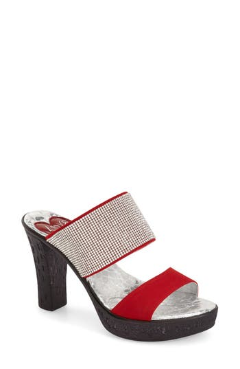 Women's Love And Liberty 'Dakota' Crystal Embellished Double Band Sandal