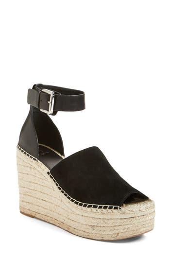 Women's Marc Fisher Ltd 'Adalyn' Espadrille Wedge Sandal, Size 7 M - Black