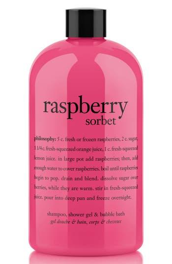 Philosophy 'Raspberry Sorbet' Award-Winning Ultra-Rich 3-In-1 Shampoo, Shower Gel & Bubble Bath, Size 16 oz