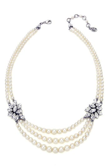 Women's Ben-Amun Faux Pearl & Crystal Multistrand Necklace