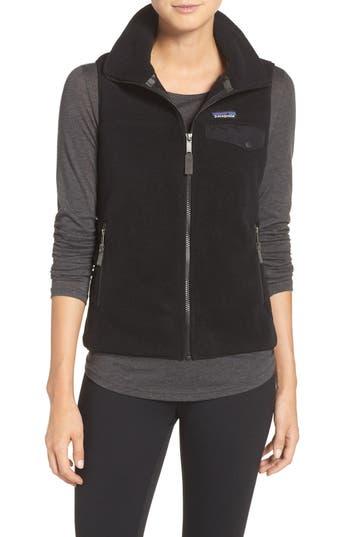 Women's Patagonia Snap-T Fleece Vest, Size X-Small - Black