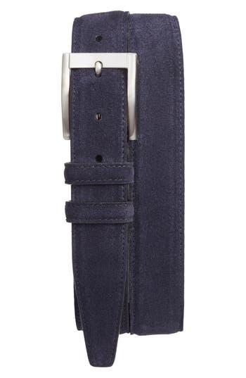 Big & Tall Torino Belts Suede Belt, Navy