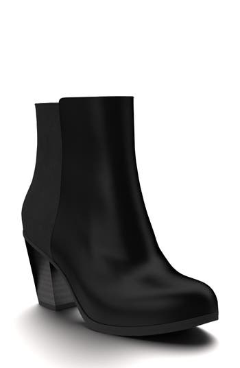 Shoes Of Prey Block Heel Bootie, Black