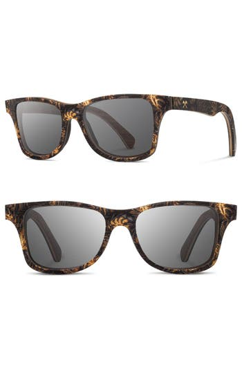 Shwood Canby 55Mm Polarized Pine Cone & Wood Sunglasses -