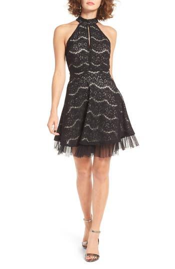 Women's Love, Fire Lace Fit & Flare Dress