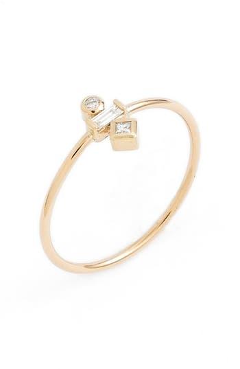 Zoe Chicco Mixed Diamond Stack Ring