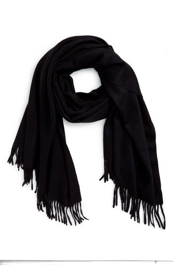 Women's Nordstrom Collection Oversize Cashmere Wrap, Size One Size - Black