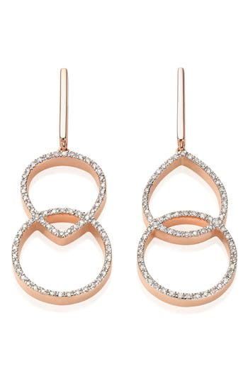 Women's Monica Vinader Naida Diamond Kiss Drop Earrings