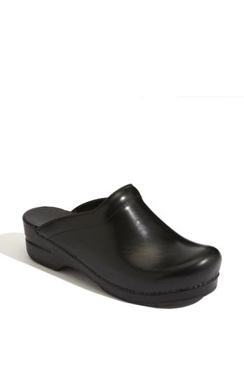 'SONJA' LEATHER CLOG