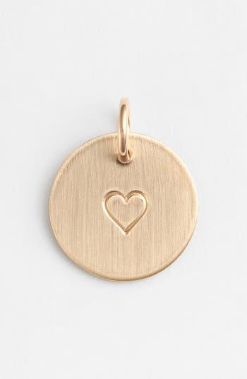 Women's Nashelle Heart Stamp Charm