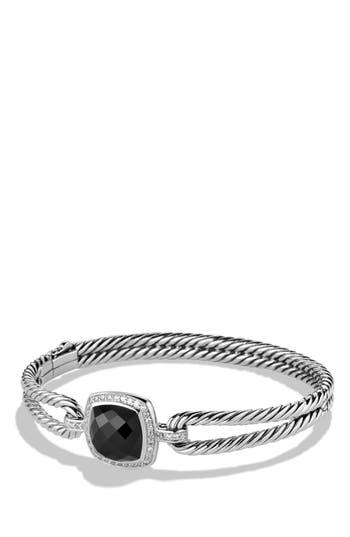 Women's David Yurman 'Albion' Bracelet With Semiprecious Stone And Diamonds