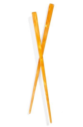 L. Erickson Hair Stick Pairs, Size One Size - Orange