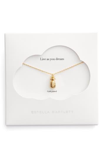 Women's Estella Bartlett Treasure Me Pineapple Pendant Necklace