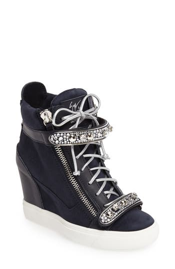 Women's Giuseppe For Jennifer Lopez Tiana Hidden Wedge Sneaker