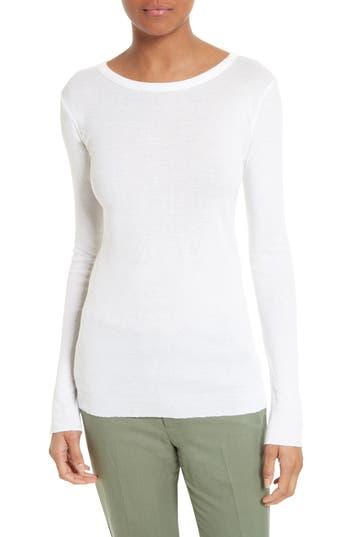 Women's Vince Pima Cotton Tee, Size Medium - White