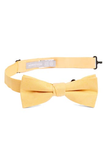 Boy's Nordstrom Check Cotton Bow Tie, Size Big Boy - Yellow