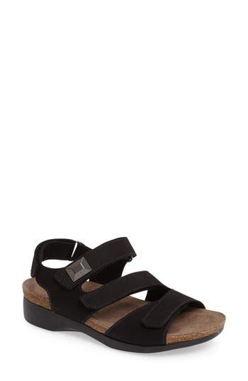 Women's Munro Antila Sandal, Size 9.5 W - Black