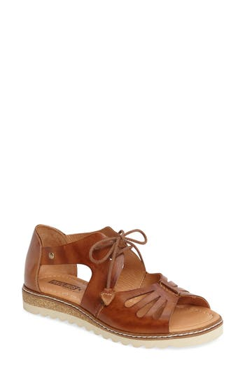 Women's Pikolinos Alcudia Lace-Up Sandal, Size 11US / 41EU - Brown
