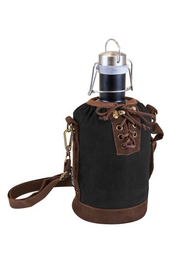 Picnic Time Growler & Tote, Size One Size - Black