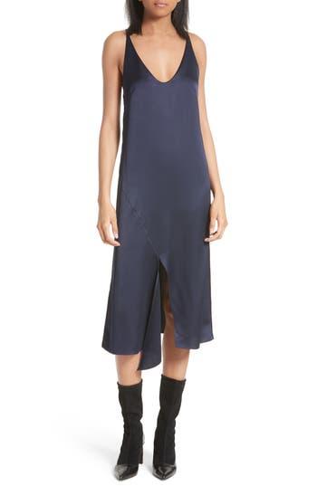 Women's Tibi Celestia Slipdress, Size 10 - Blue