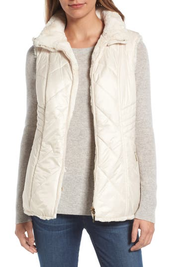 Women's Gallery Reversible Faux Fur Vest