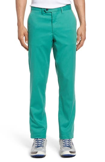 Men's Ted Baker London Water Resistant Golf Chinos, Size 32R - Green