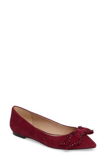 Women's Sam Edelman Raisa Bow Flat, Size 5.5 M - Burgundy