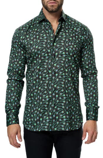 Men's Maceoo Classic Feather Print Sport Shirt