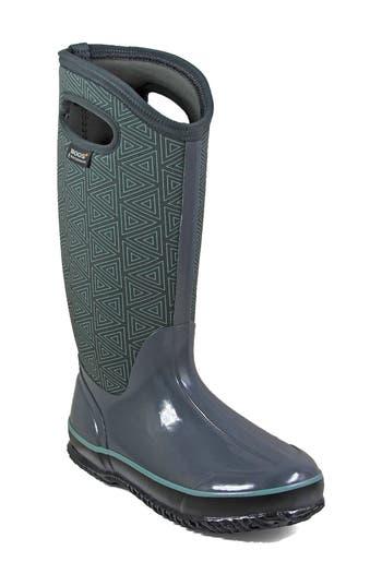 Bogs Classic Triangles Waterproof Subzero Insulated Boot, Grey