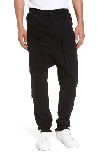 Hudson Jeans Quint Slouchy Leg Cargo Pants, Black