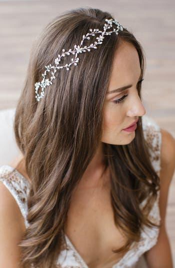 Brides & Hairpins Octavia Pearl & Jeweled Halo & Sash, Size One Size - Metallic