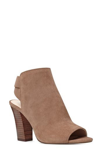 Nine West Zofee Peep Toe Bootie, Brown