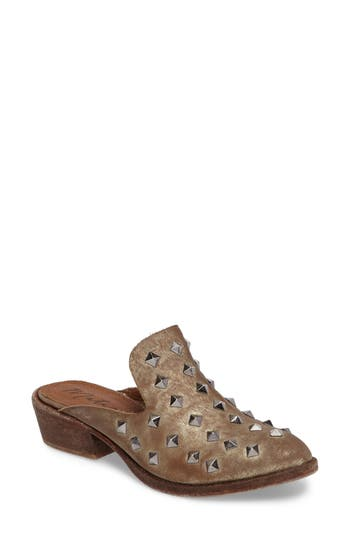 Matisse Charlize Studded Loafer Mule, Metallic