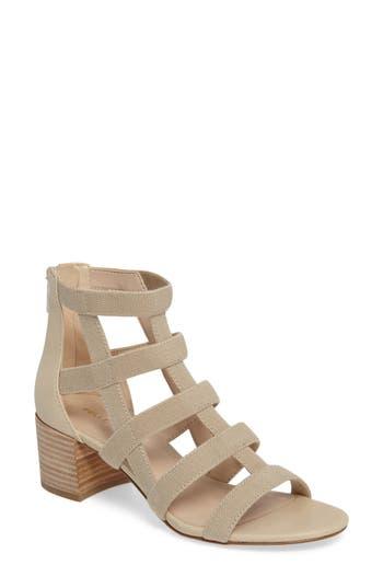 Pelle Moda Unkar Block Heel Sandal- Beige