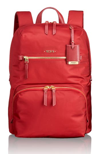 Tumi 'Voyageur Halle' Nylon Backpack - Red