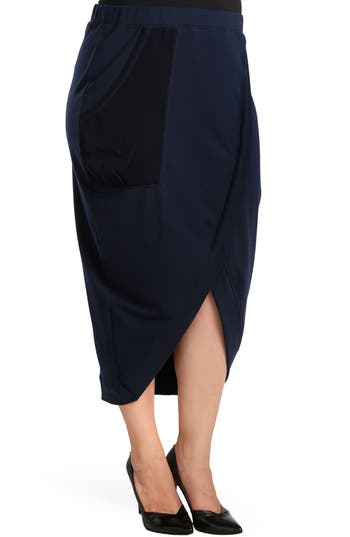 Plus Size Standards & Practices Phoebe Skirt, Blue