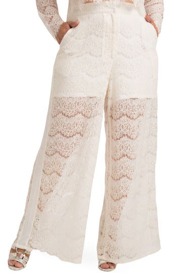 Plus Size Women's Standards & Practices April Lace Palazzo Pants